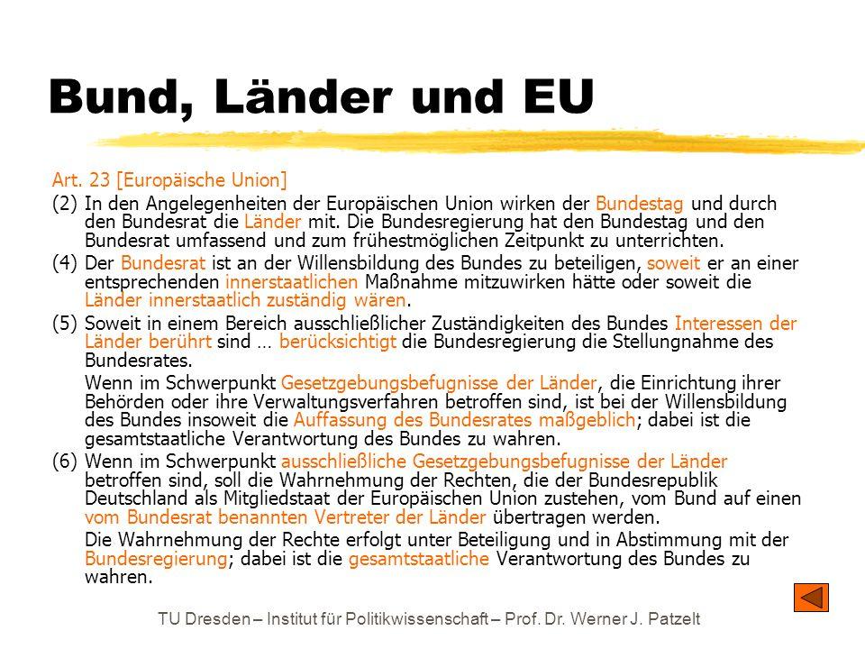 Bund, Länder und EU Art. 23 [Europäische Union]